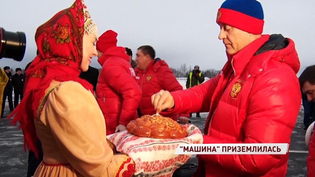 Сборная России по хоккею приземлилась в Ярославле: как встречали «Красную машину»