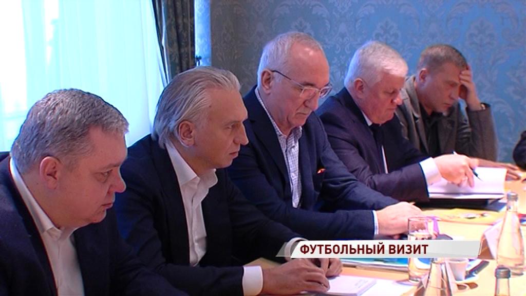 В Ярославль прибыл кандидат на пост президента Российского футбольного союза