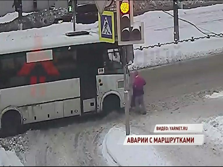 Съехали с маршрута: в Ярославле череда громких ДТП с маршрутками