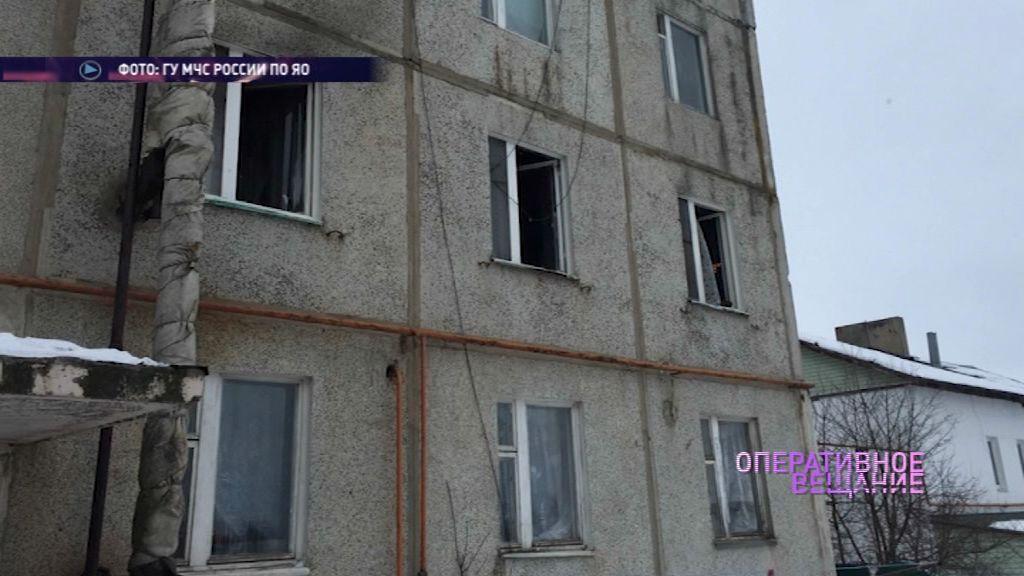 В Ростовском районе во время пожара пострадала женщина
