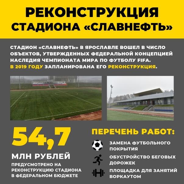 Дмитрий Миронов: «В Ярославле реконструируют стадион «Славнефть»