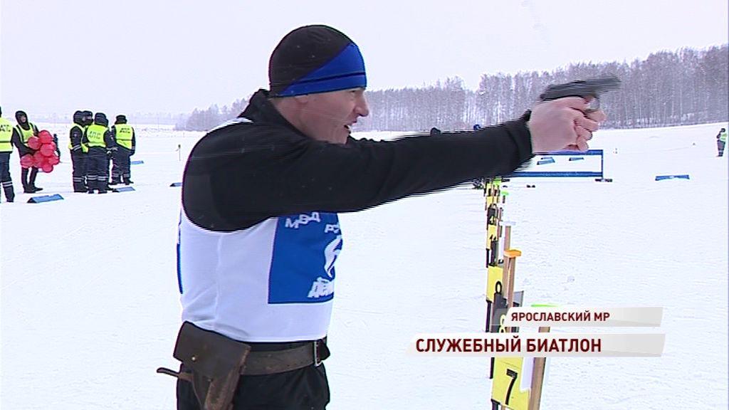 Спецподразделения Ярославля провели соревнования по служебному биатлону