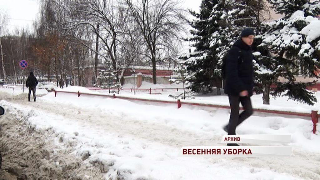 Крыши Ярославля через две недели полностью очистят от снега
