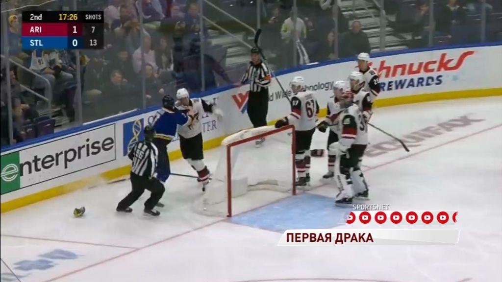 Экс-защитник «Локомотива» впервые подрался в НХЛ