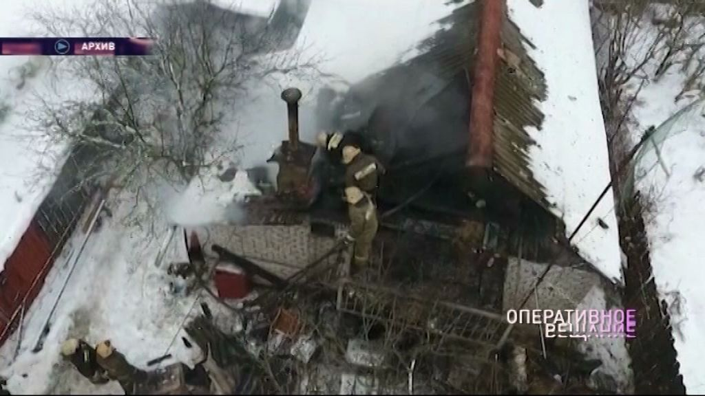 Огонь уничтожил жилой дом под Рыбинском