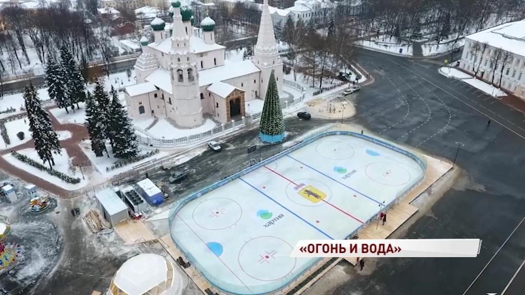 Каток на Советской площади впервые проработает до конца марта