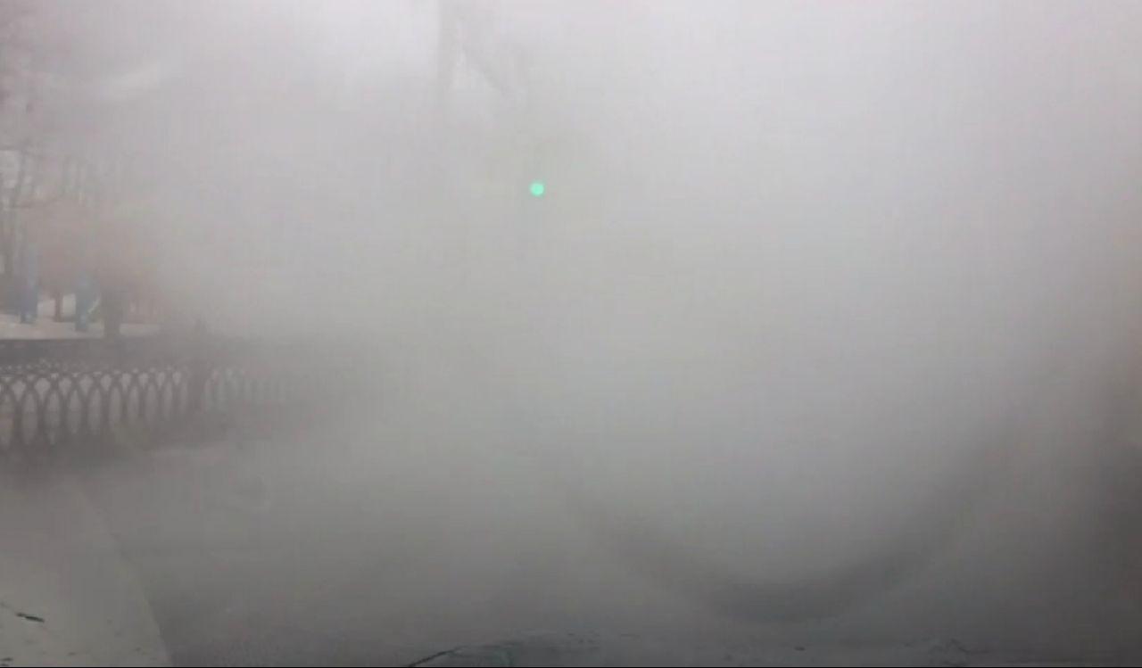 Первомайская улица погрузилась в туман: что произошло
