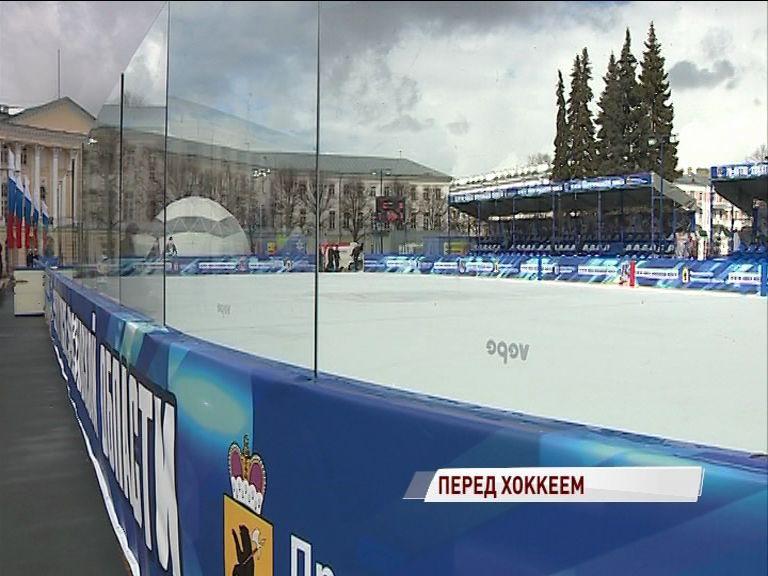 Легенды отечественного хоккея выйдут на лед на Советской пощади