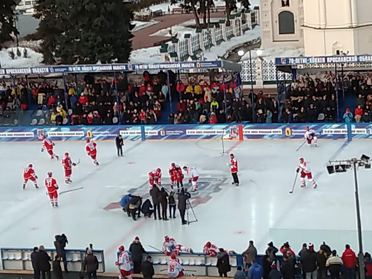 В Ярославле завершился хоккейный матч легенд: Дмитрий Миронов отметился хет-триком