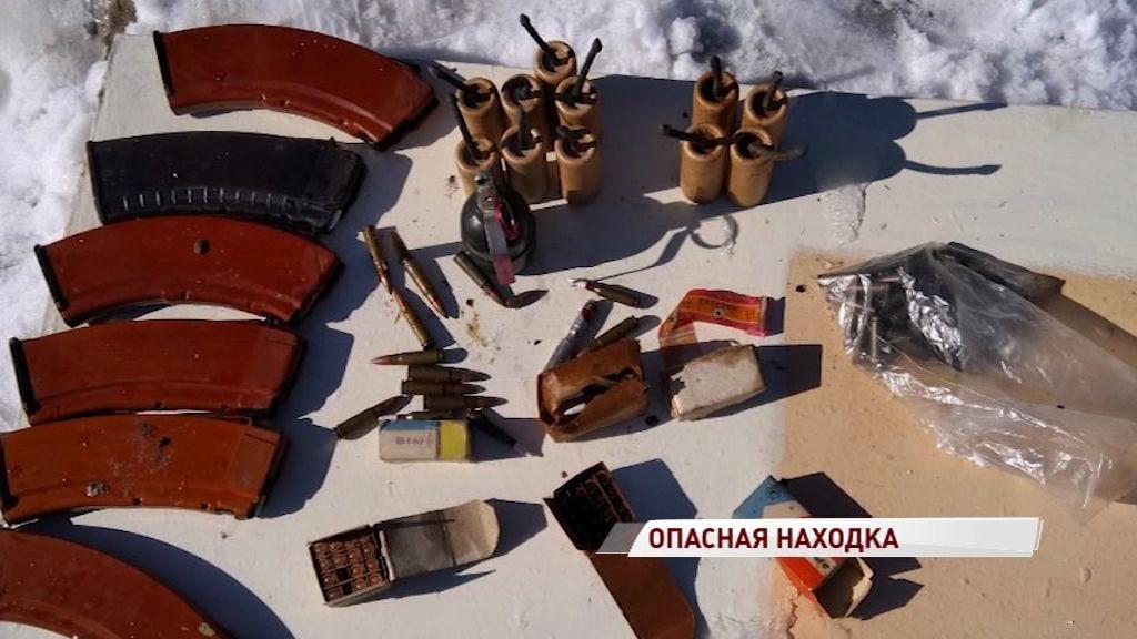Жительница Переславля нашла целый склад боеприпасов