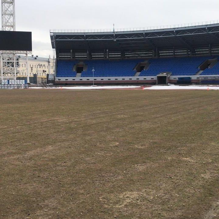 Гендиректор «Шинника» показал поле стадиона после зимы