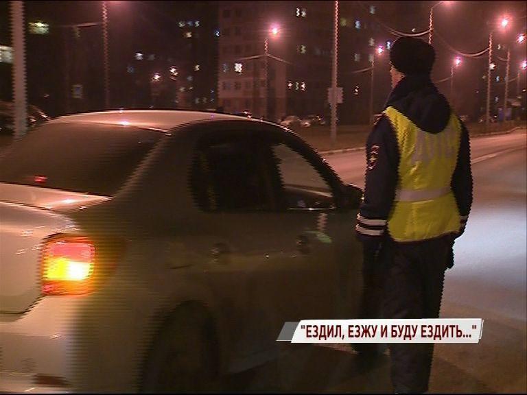Пьяный водитель попался дорожным полицейским на Сахарова