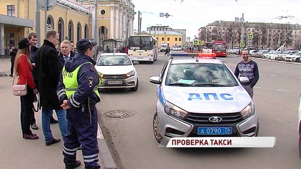 Без лицензии, зато с газовым баллоном: в Ярославле прошел рейд по такси