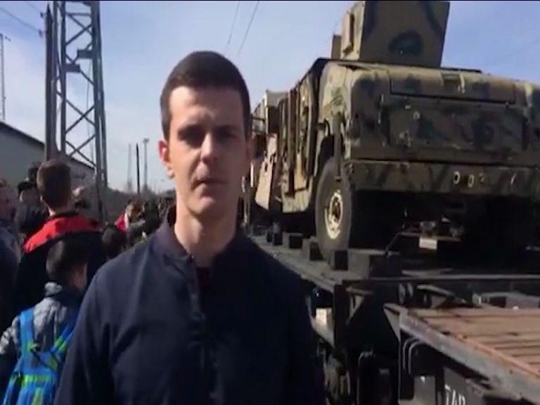 В Ярославль прибыл спецпоезд с военной техникой из Сирии