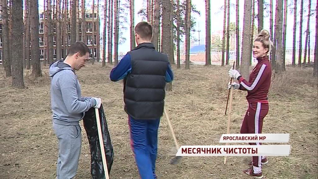 В Ярославском районе на уборку дворов вышли целыми семьями