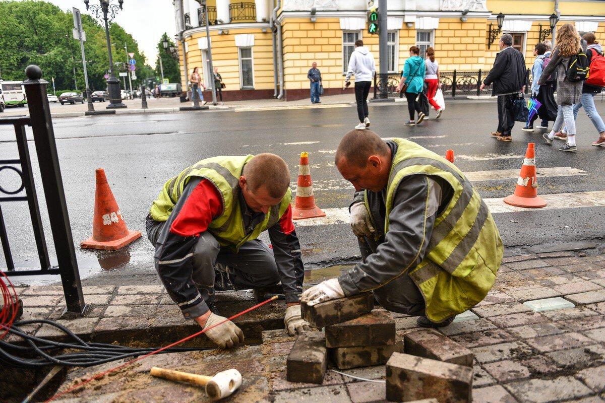 В Ярославле тротуары оборудуют светодиодной плиткой