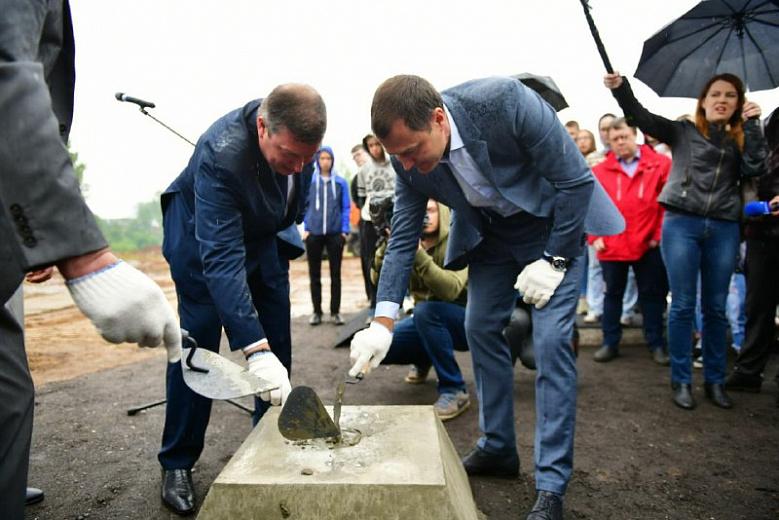 В Ярославле на месте строительства нового детсада заложили капсулу времени