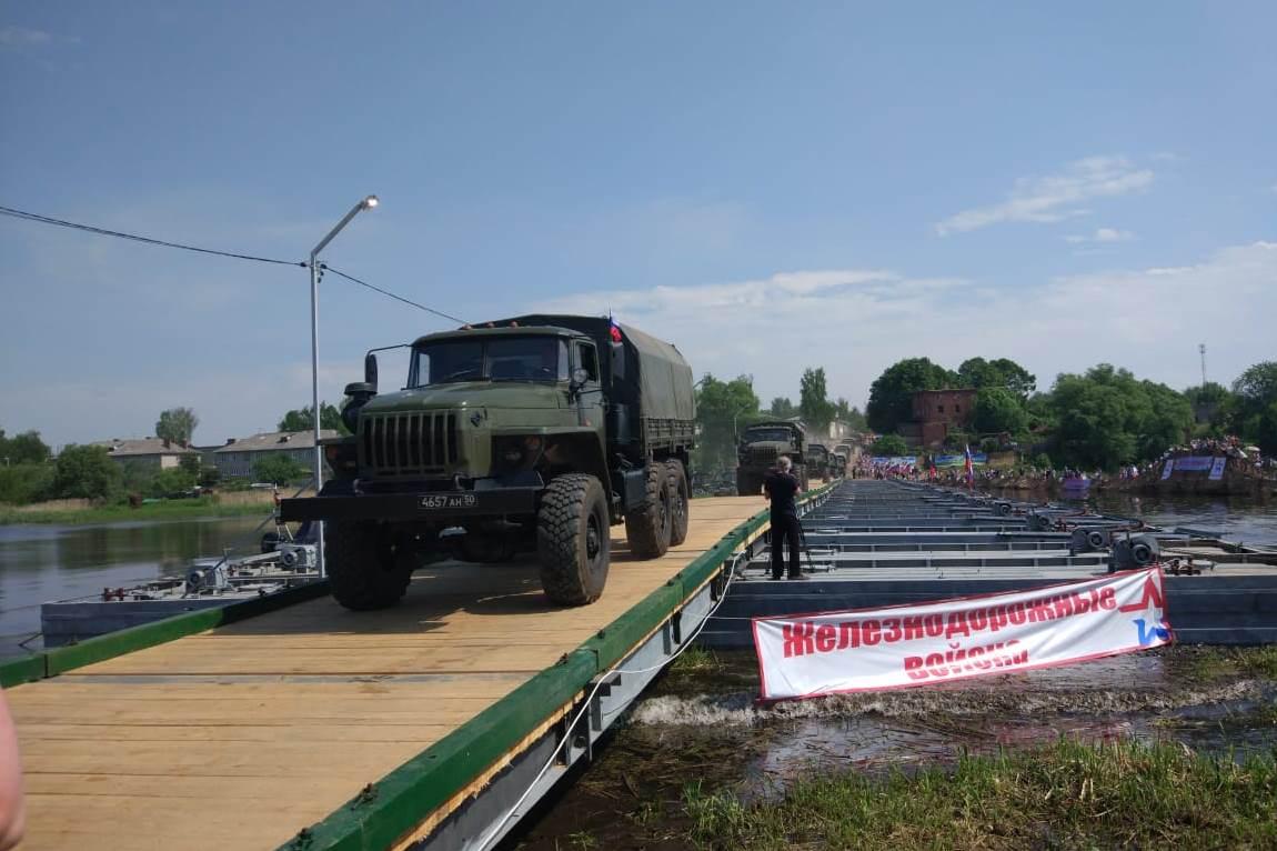 При поддержке губернатора Дмитрия Миронова в Некрасовском организована понтонная переправа