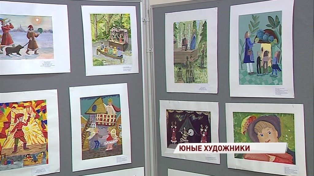 Юные художники представили свои работы на тему театра во дворце пионеров