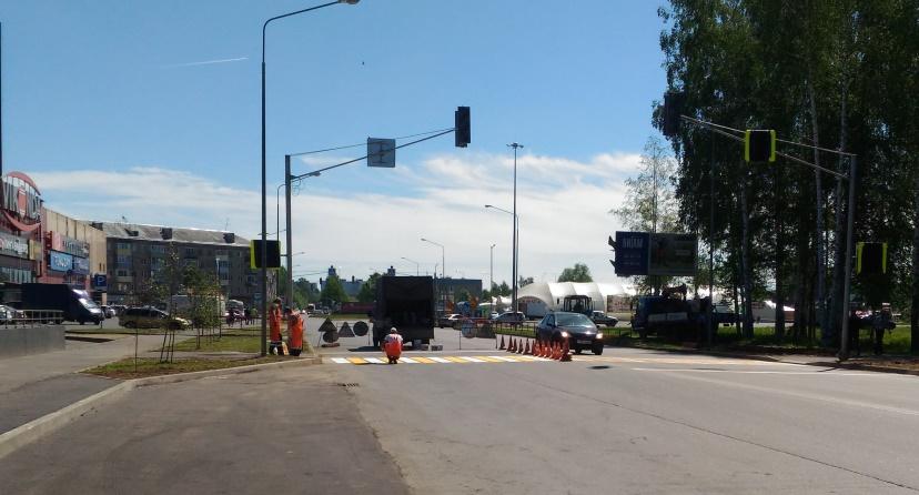 В Рыбинске установили две новые остановки и светофоры