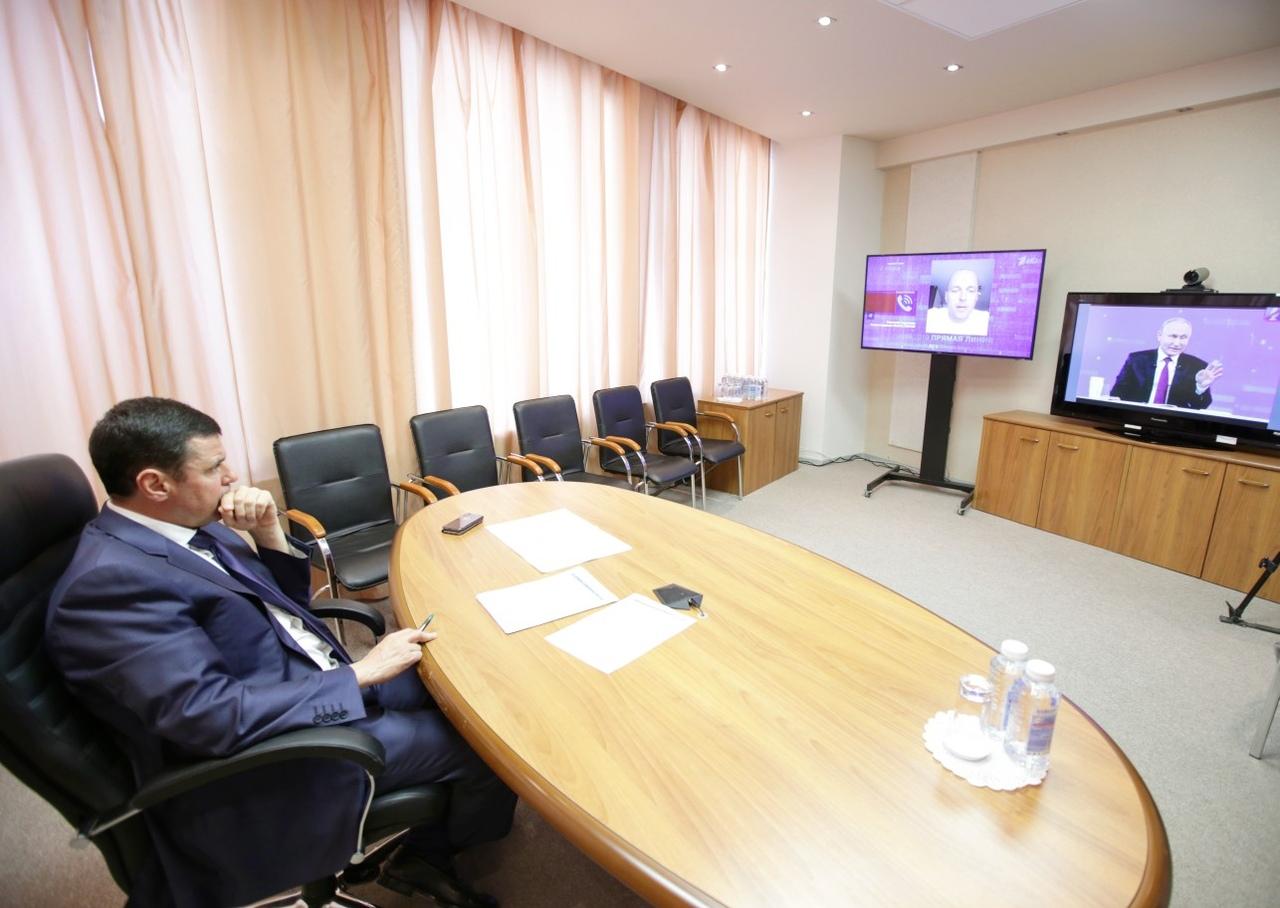 Дмитрий Миронов рассказал, на что обратил внимание во время прямой линии с президентом