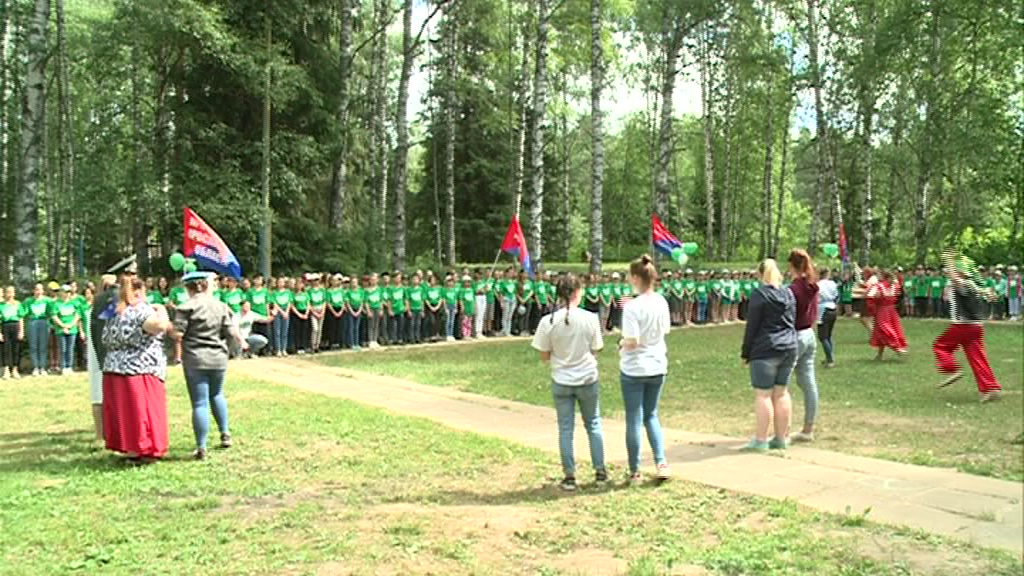 В лагере «Березка» стартовала профсоюзная смена для детей