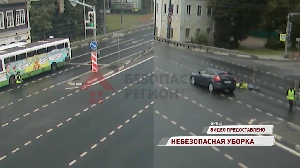 На Московском проспекте перебегавший дорогу рабочий попал под колеса авто