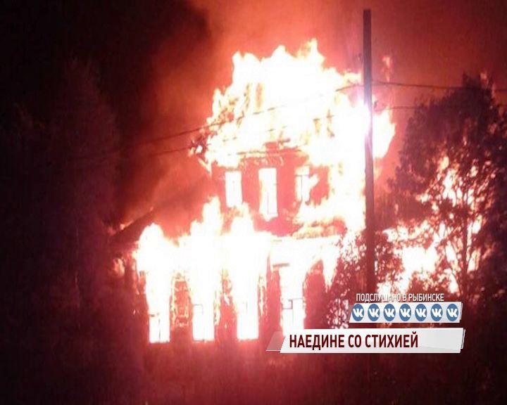 Пожар в Антоново тушили всем селом