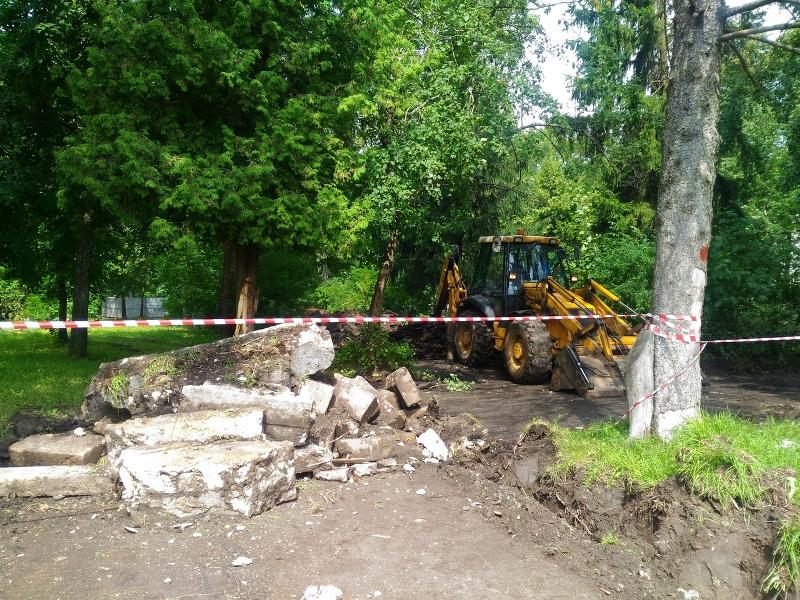 В Рыбинске начали реконструировать парк в микрорайоне Волжский