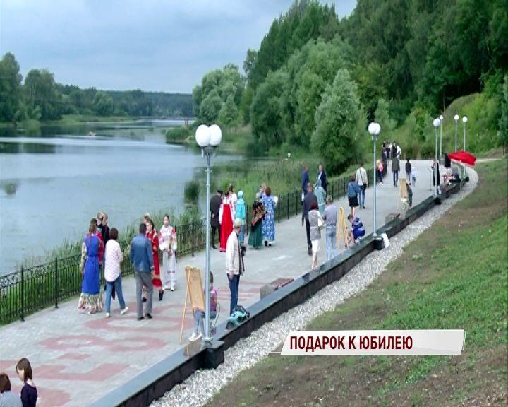 В Некрасовском открыли новую набережную реки Солоницы