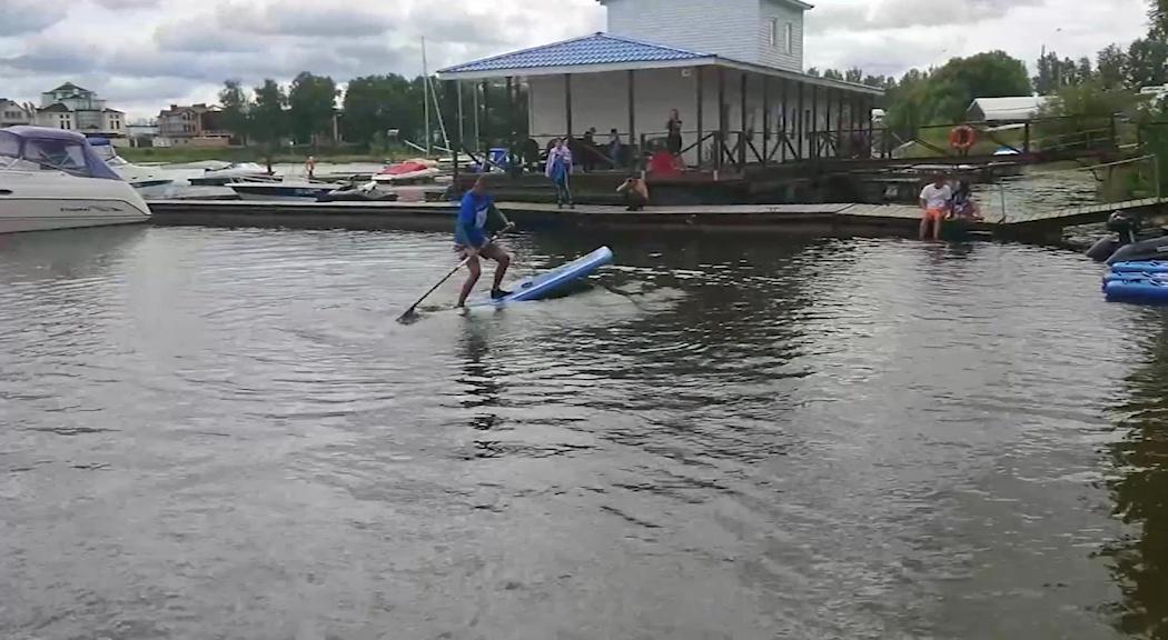 В Ярославле впервые прошли Международные соревнования по сап-серфингу