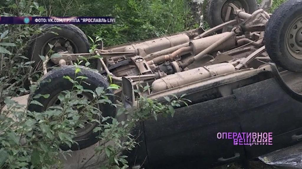 Спасли ремни безопасности: в Рыбинске женщина с тремя детьми перевернулась на иномарке