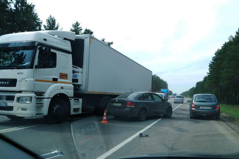 На трассе «Ярославль - Кострома» столкнулись пять машин