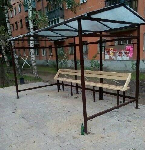 Ничего лишнего: новую остановку на Гагарина сделали в стиле минимализм
