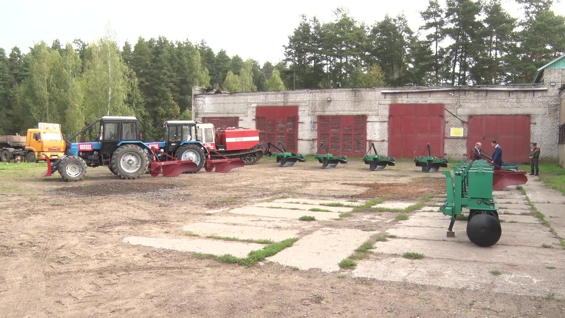 Ярославское лесничество получило новую технику в рамках нацпроекта «Экология»