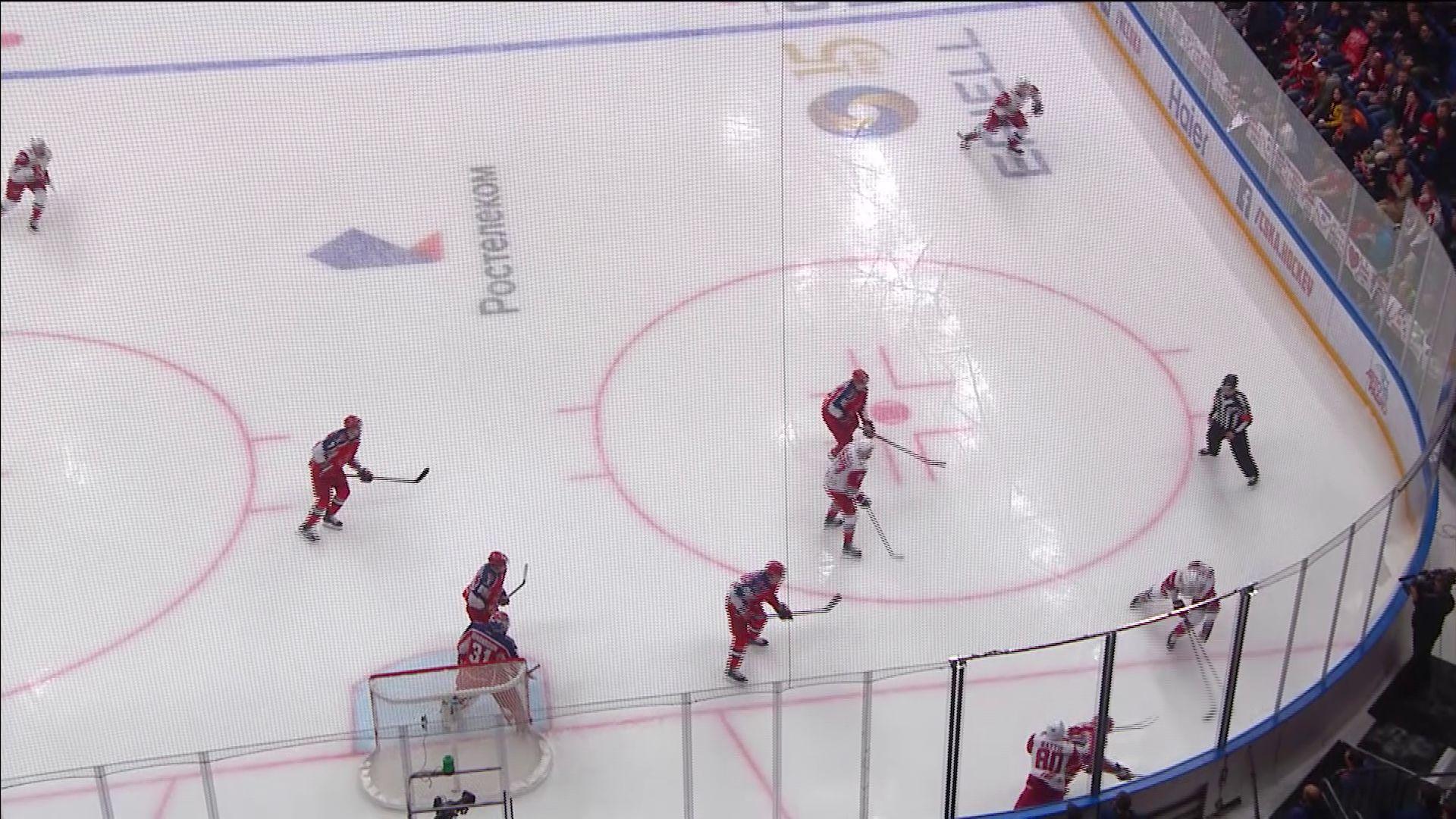 Ярославский «Локомотив» уступил ЦСКА в матче чемпионата КХЛ