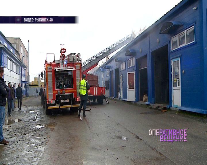 В Рыбинске больше трех часов тушили здание
