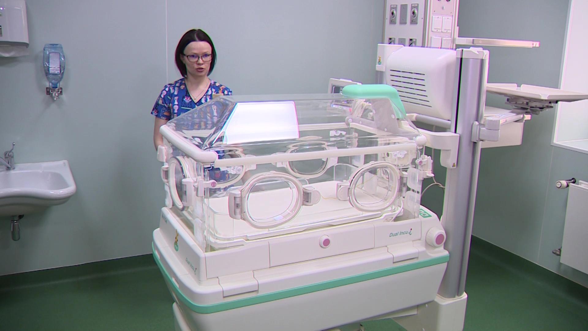 В областном перинатальном центре появился современный инкубатор для недоношенных детей