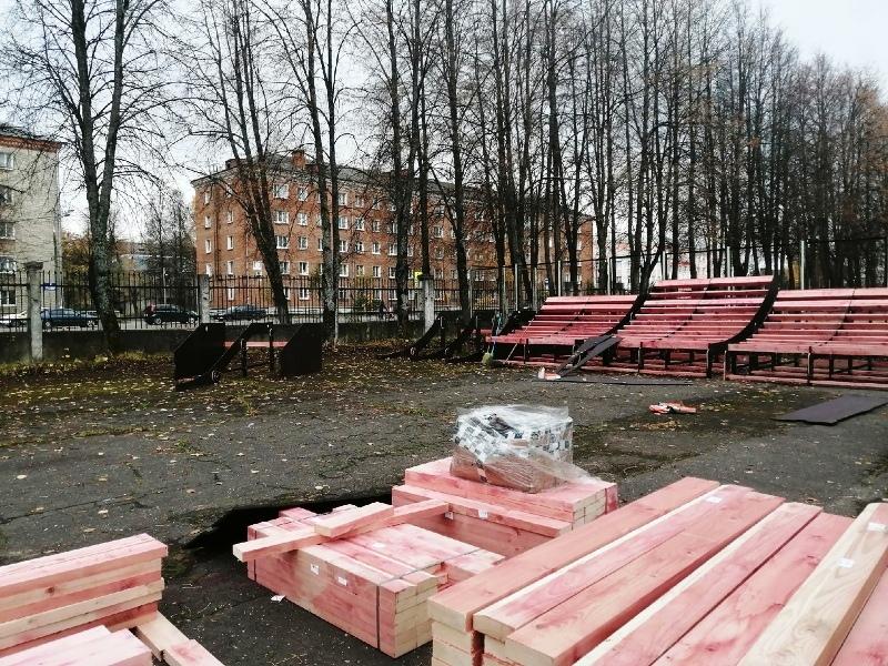 В Рыбинске начали монтировать скейт-площадку