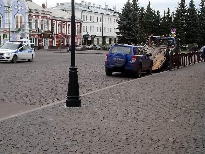 В Рыбинске начали эвакуировать машины нарушителей парковки