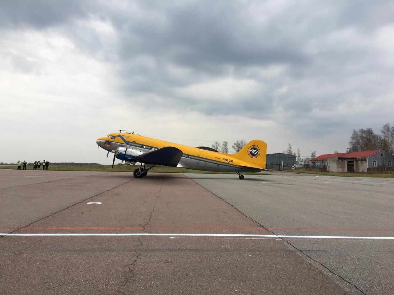 В Ярославле приземлился американский самолет из 40-х годов