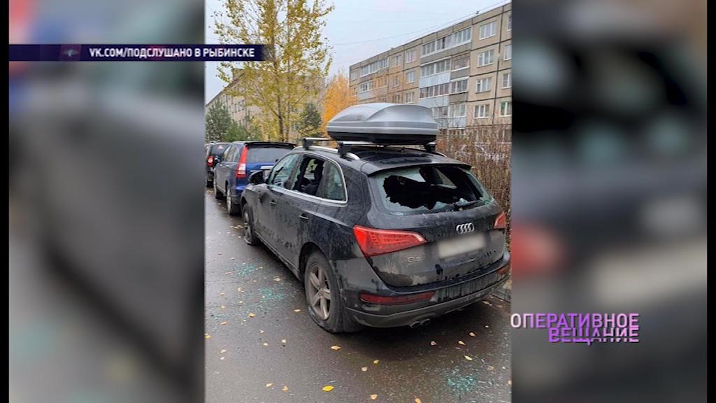В Рыбинске продолжается поиск вандалов, испортивших авто местного жителя