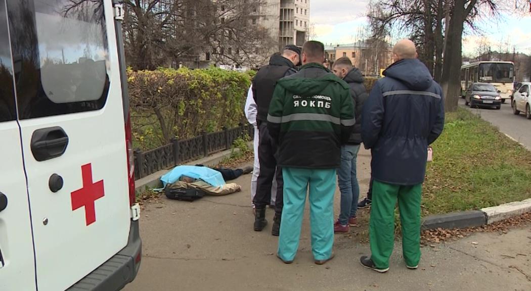 В Ярославле днем на улице обнаружили тело мужчины