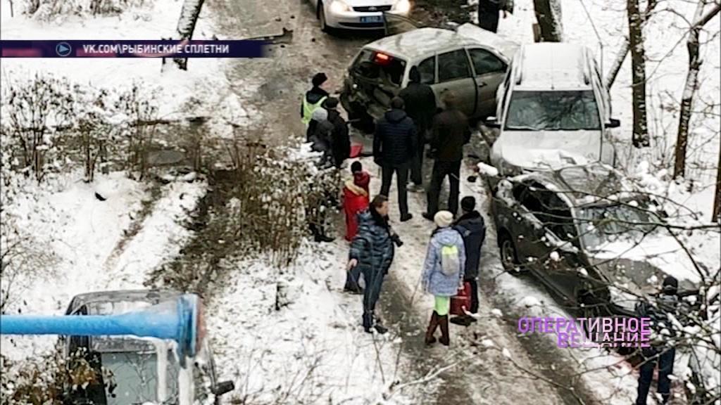 В Рыбинске столкнулись сразу пять автомобилей