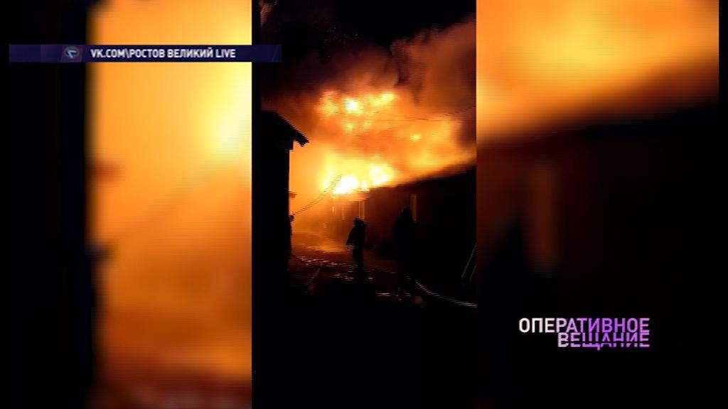 В Ростове сгорела частная баня