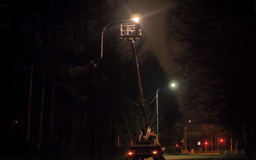 В Брагине проверили исправность фонарей после сообщений в социальных сетях