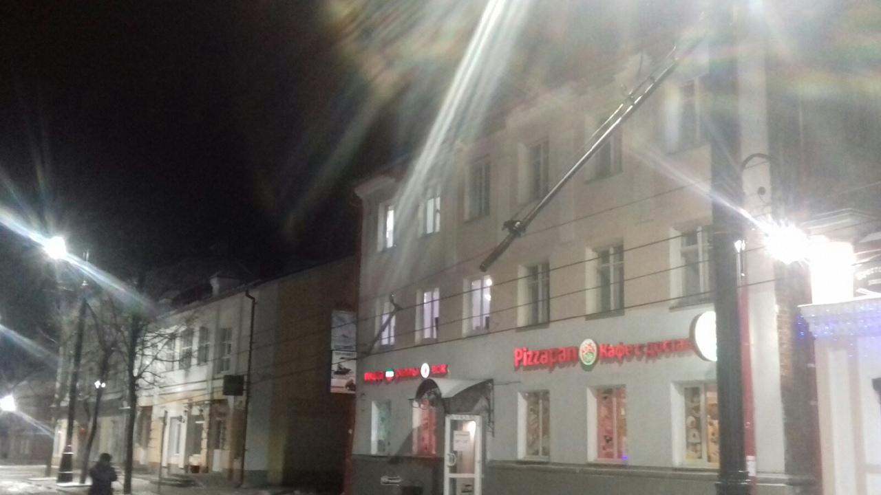 В Рыбинске «сложились» опоры троллейбусных линий