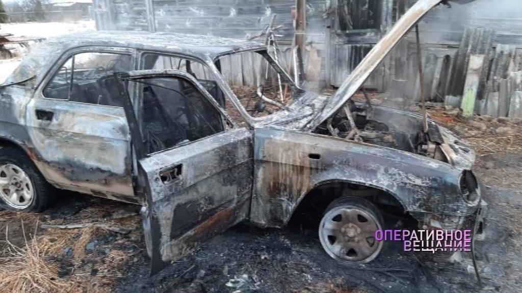 В Переславском районе загорелся отечественный автомобиль