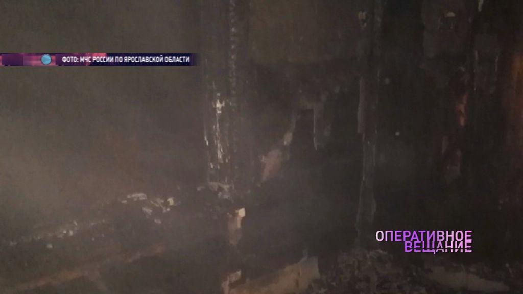 Во Фрунзенском районе полыхал барак, пострадал мужчина