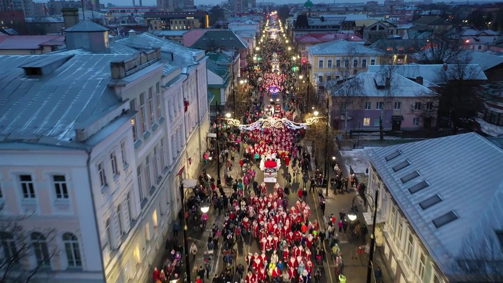 «НаШествие» Дедов Морозов в Рыбинске: чем запомнился праздник